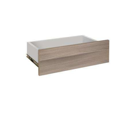 24 in. x 5 in. Assembled Closet Drawer with Soft Close Drawer Glides in Textured Platinum
