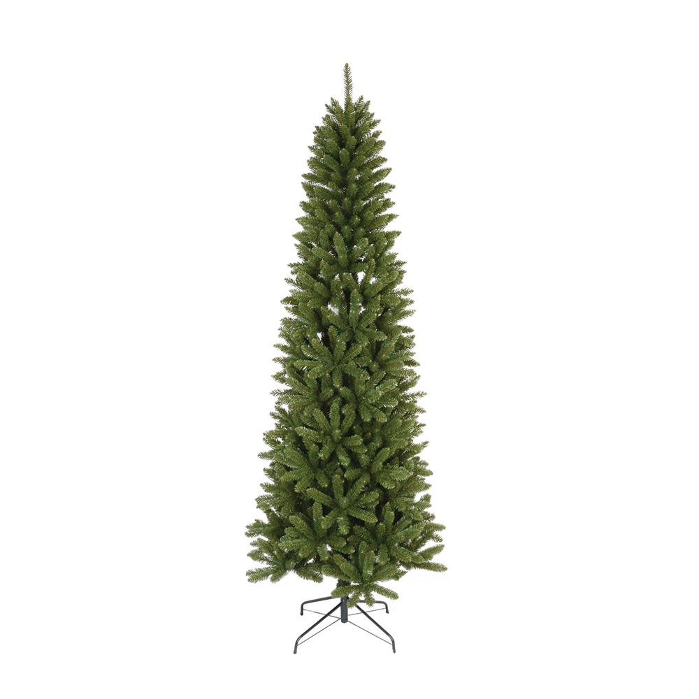 7.5 ft. Unlit Slim Artificial Christmas Tree with 936 Tips ...