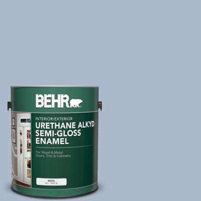 1 gal. #PPU15-16 Simply Blue Urethane Alkyd Semi-Gloss Enamel Interior/Exterior Paint
