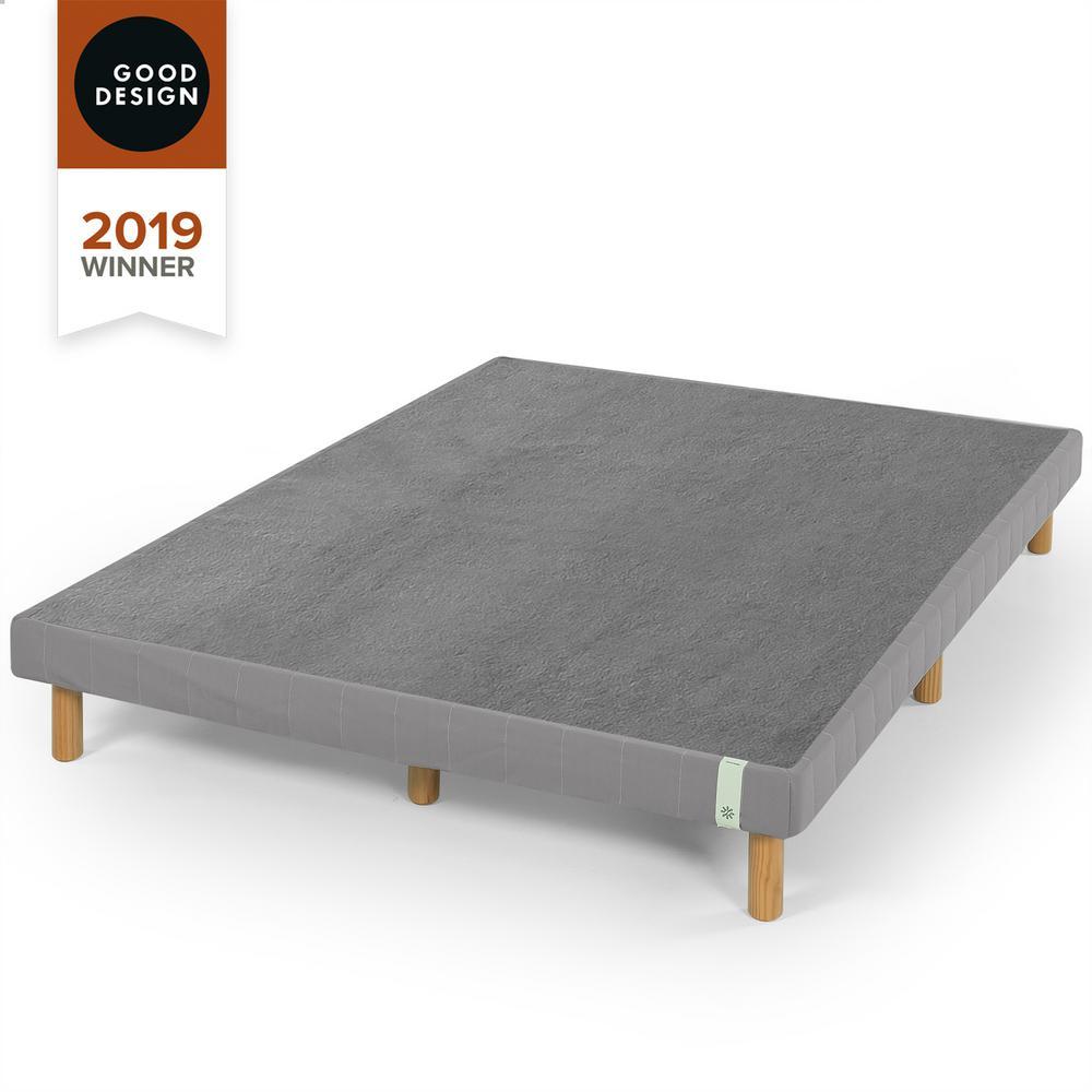 Good Design Winner - 14 in. Justina Grey King Quick Snap Standing Mattress Foundation