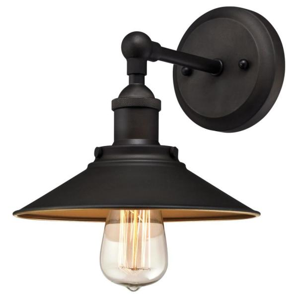 Louis 1-Light Oil Rubbed Bronze Wall Mount Sconce