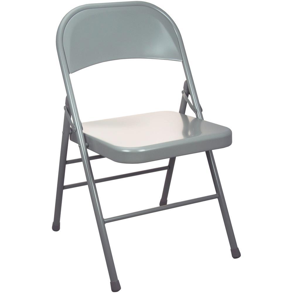 Advantage Gray Metal Folding Chair (20-Pack)