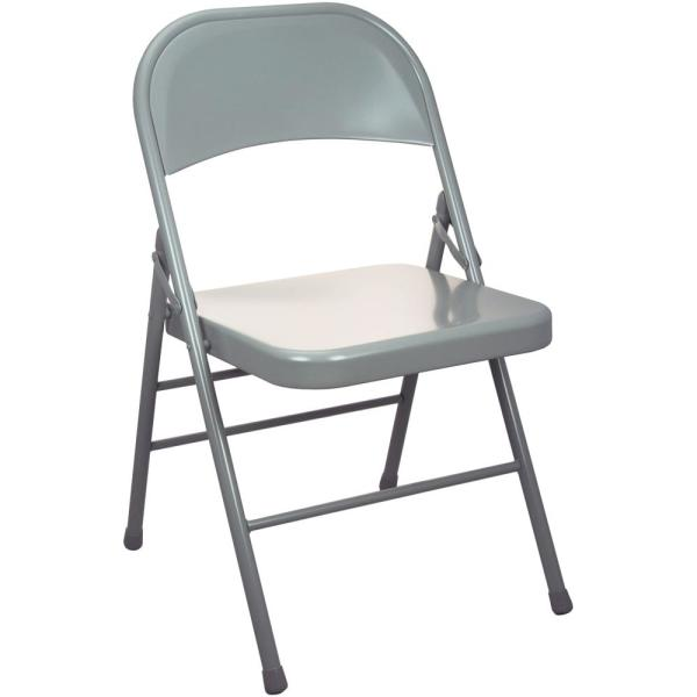 Advantage Gray Metal Folding Chair