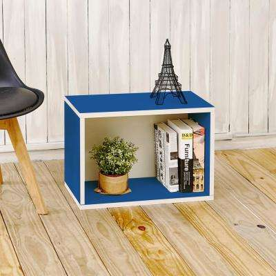 Eco Stackable zBoard 11.2 in. x 22.8 in. x 15.5 in. Tool-Free Assembly Rectangle Cubby Shelf Unit in Blue