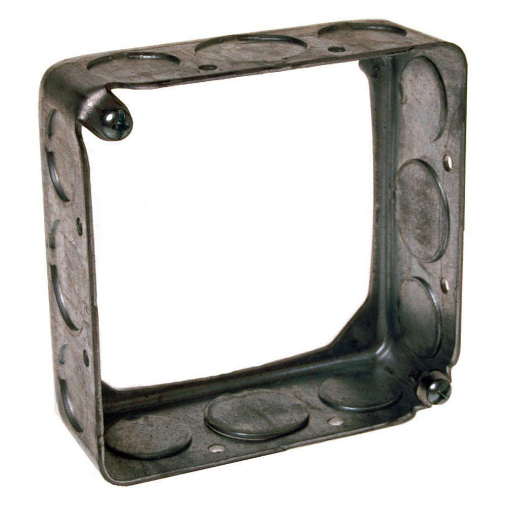 4 in. Square Drawn Extension Ring 1-1/2 in. Deep with 1/2