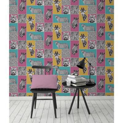 56.4 sq. ft. Zoya Multi Safari Wallpaper