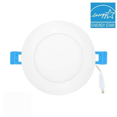 Ultra -Thin 6 in. White (3000K) Integrated LED Downlight Recessed Trim