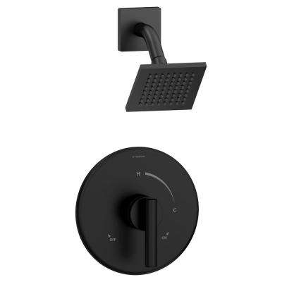 Dia Single-Handle 1-Spray Shower Faucet in Matte Black (Valve Included)