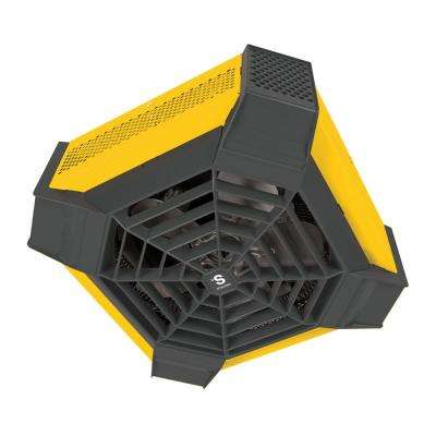 Spider Residential 4000-Watt 240-Volt Ceiling Fan Portable Heater in Yellow