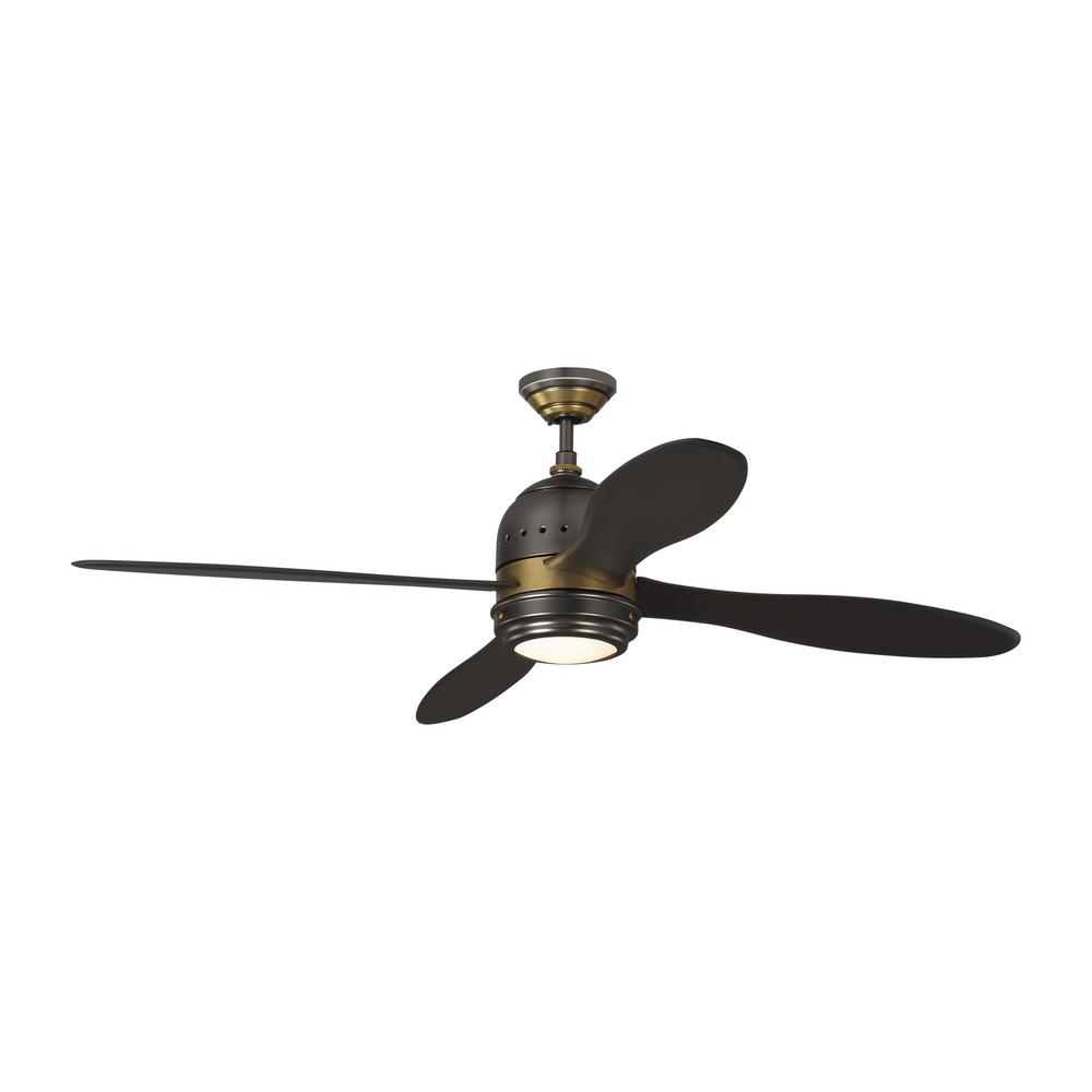 Monte Carlo TOB by Thomas O'Brien Metrograph 56 in. Integrated LED Indoor Bronze and Antique Brass Ceiling Fan with Light Kit was $749.96 now $449.97 (40.0% off)