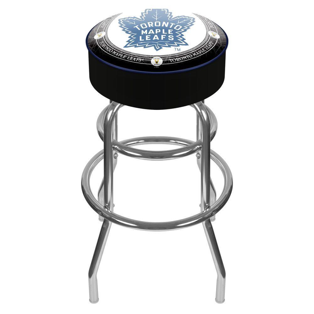NHL Throwback Toronto Maple Leafs 31 in. Chrome Padded Swivel Bar Stool