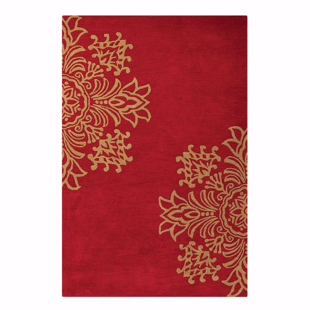 Home Decorators Collection Tempo Red 5 ft. 3 in. x 8 ft. 3 in. Area Rug
