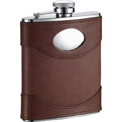 Armstrong Brown Leather Liquor Flask
