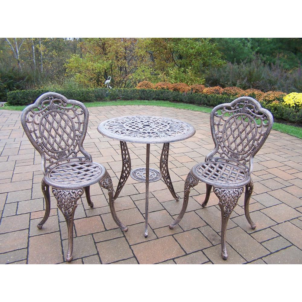 Oakland Living Mississippi 3-Piece Patio Bistro Set