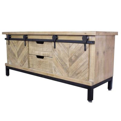 Shelly 50 in. Natural Wood TV Stand with 2 Drawer Fits TVs Up to 40 in. with Storage Doors