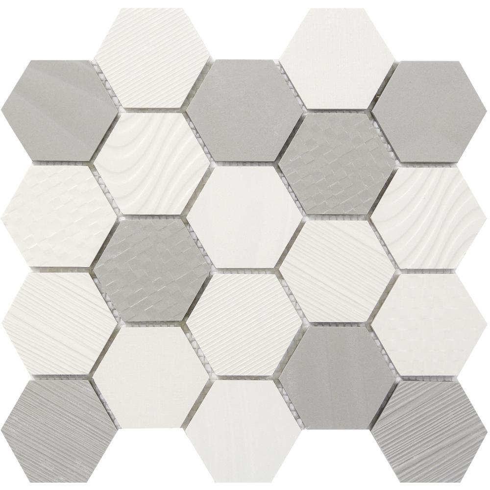 Emser Surface CreamGray Hexagon 12 In X 14 9 Mm