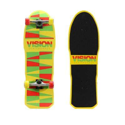 Original Gold 31 in. Skateboard in Shredder Rasta Graphic