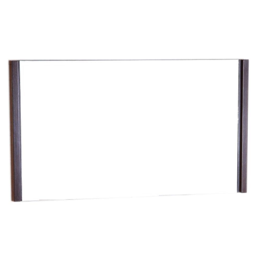 Bellaterra Home Fortuna 47 In X 26 Single Framed Wall Mirror Wenge