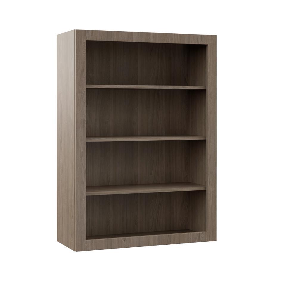Wall Open Shelf Kitchen Cabinet In Driftwood