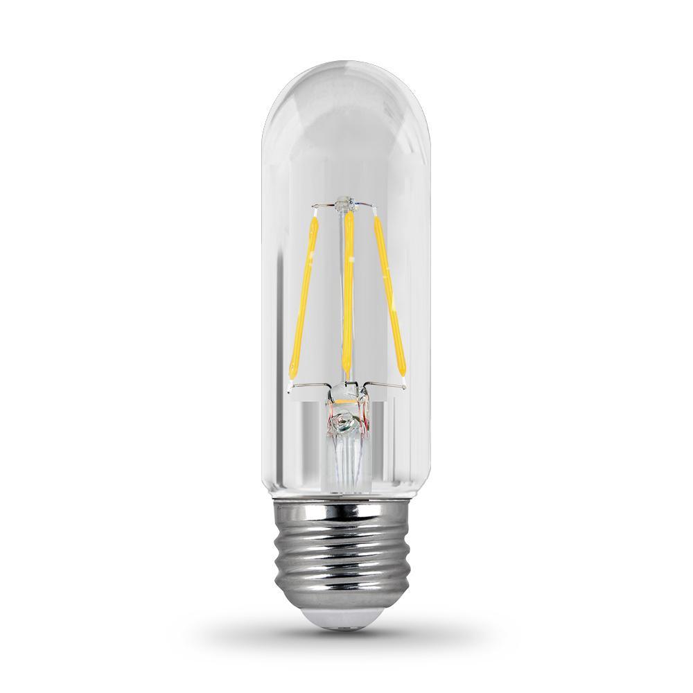 40-Watt Equivalent T10 Dimmable Filament CEC Title 20 Compliant LED 90+ CRI Clear Glass Light Bulb, Soft White