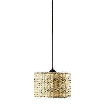 Kisha Natural 12 in. Instant Pendant Light Conversion Kit