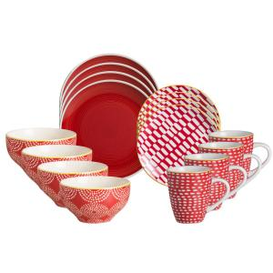 Simpatico 16-Piece Red Dinnerware Set by