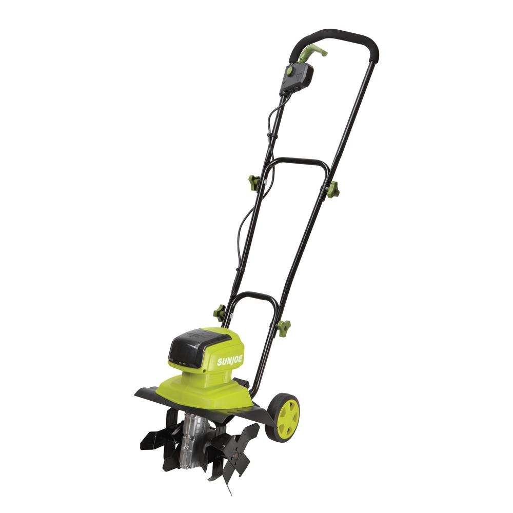 Sun Joe iON 12 in. 40-Volt Cordless Electric Garden Tille...