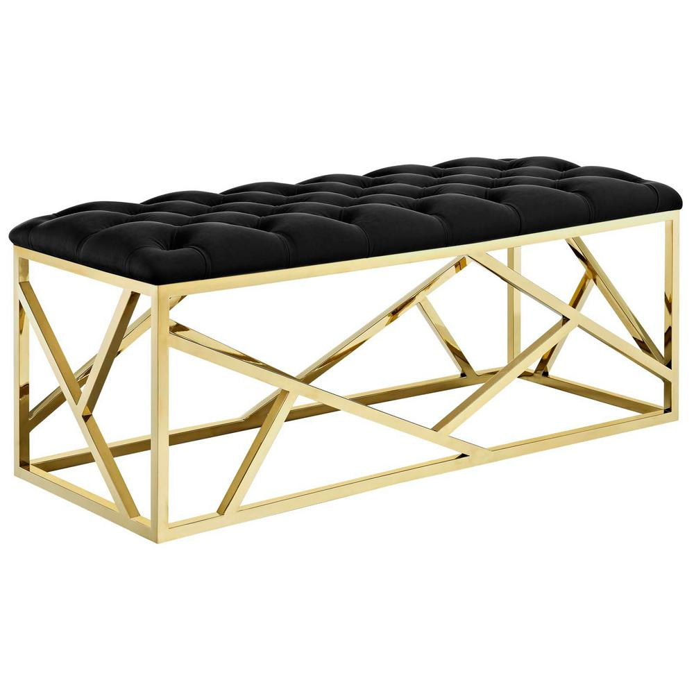 Gold Black Intersperse Bench