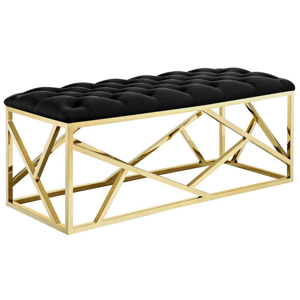 Gold Black Intersperse Bench