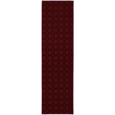 Sparta 3 ft. x 12 ft. Area Rug Runner Chili Pepper Red