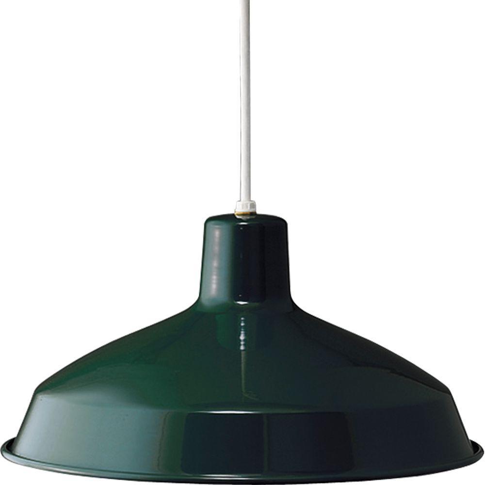 1-Light Dark Green Pendant