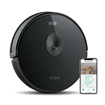 Ironpie M6 Robotic Vacuum Cleaner Visual Navigation Camera Remote Monitor 1800Pa Strong Suction Self-Charging Wi-Fi