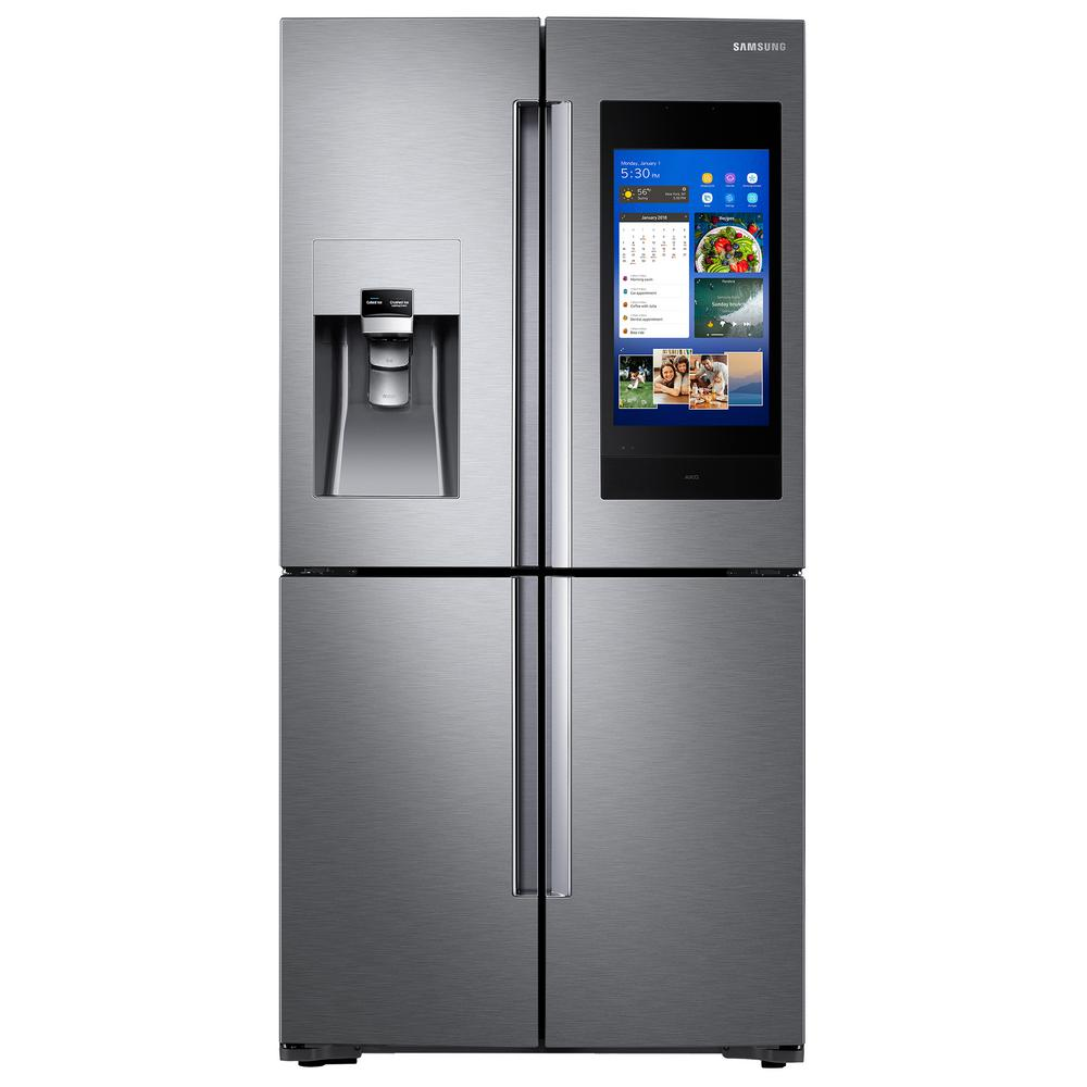 Samsung 22 Cu Ft Family Hub 4 Door French Door Smart