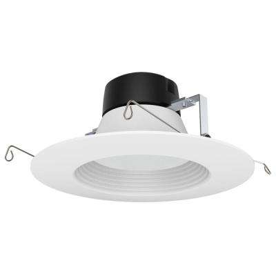 ProLED 6 in. White Integrated LED Recessed Ceiling Light Dimmalbe JA8/Title 24 CEC Retrofit Trim Wet Location Daylight