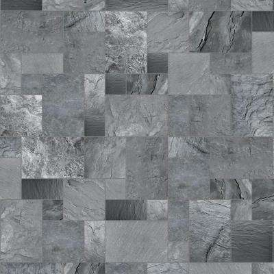 Take Home Sample - Cambrian Slate Vinyl Universal Flooring - 8 in. x 10 in.