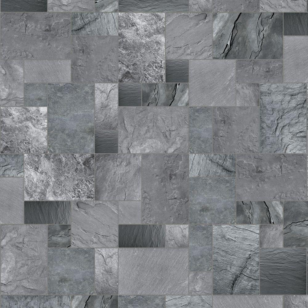 Hdx 10 ft wide x your choice length cambrian slate vinyl for Universal flooring