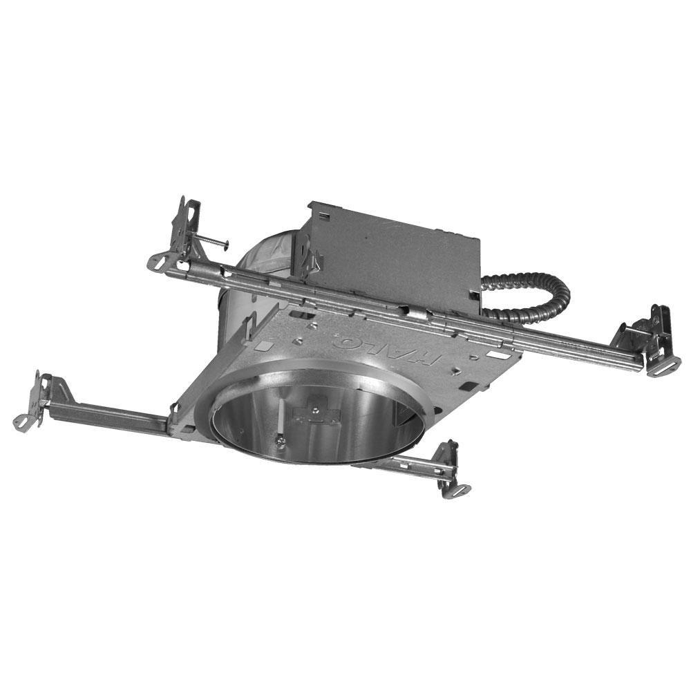 Aluminum Recessed Lighting Housing for New Construction Shallow Ceiling   InsulationHalo H27 6 in  Aluminum Recessed Lighting Housing for New  . Shallow Housing Recessed Lighting. Home Design Ideas
