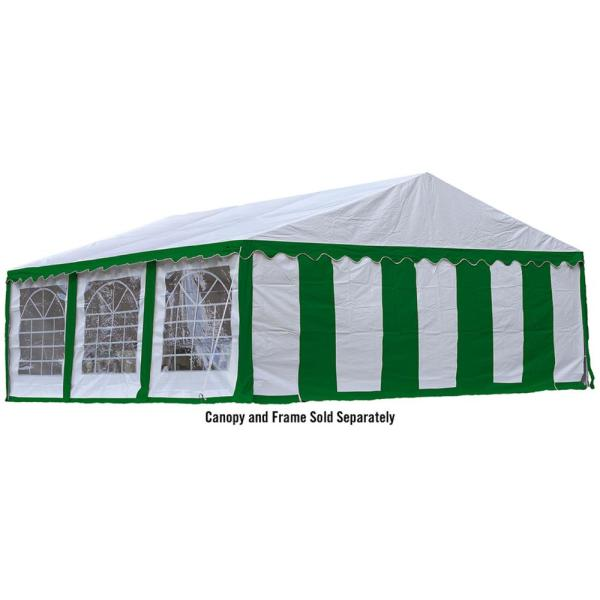 Shelterlogic 20 Ft W X 20 Ft D Enclosure Kit W Windows In White Green For Party Tent Tent Sold Separately And Fire Rated Fabric 25929 The Home Depot