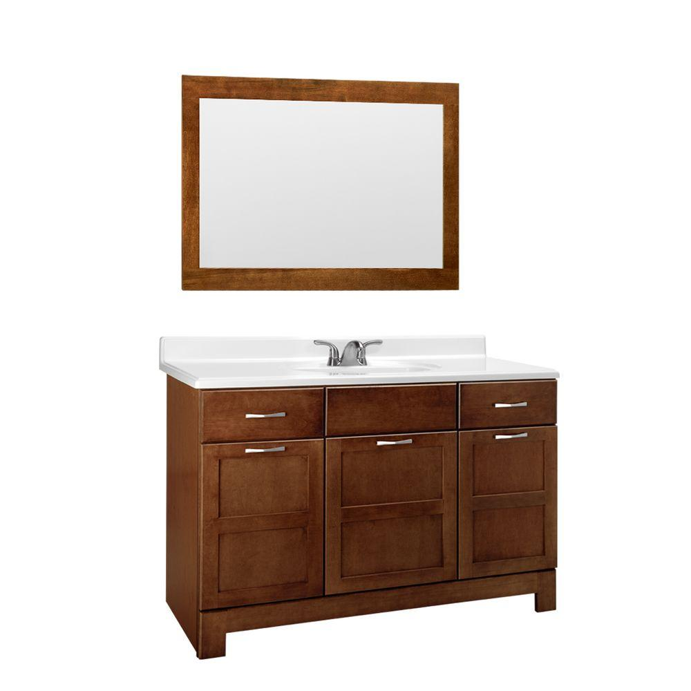 Glacier Bay Casual In W X In D X In H Bath Vanity - Glacier bay bathroom cabinets for bathroom decor ideas