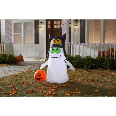3.5 ft. Ghost with Cat Hat Halloween Inflatable