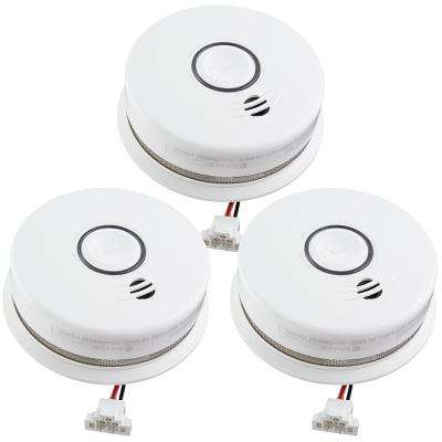 Hardwire Smoke and Carbon Monoxide Combination Detector with 10-Year Battery Backup and Voice Alarm (3-pack)