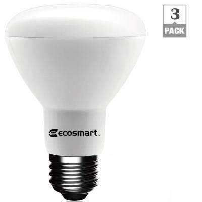 50W Equivalent Daylight BR20 Dimmable LED Light Bulb (3-Pack)