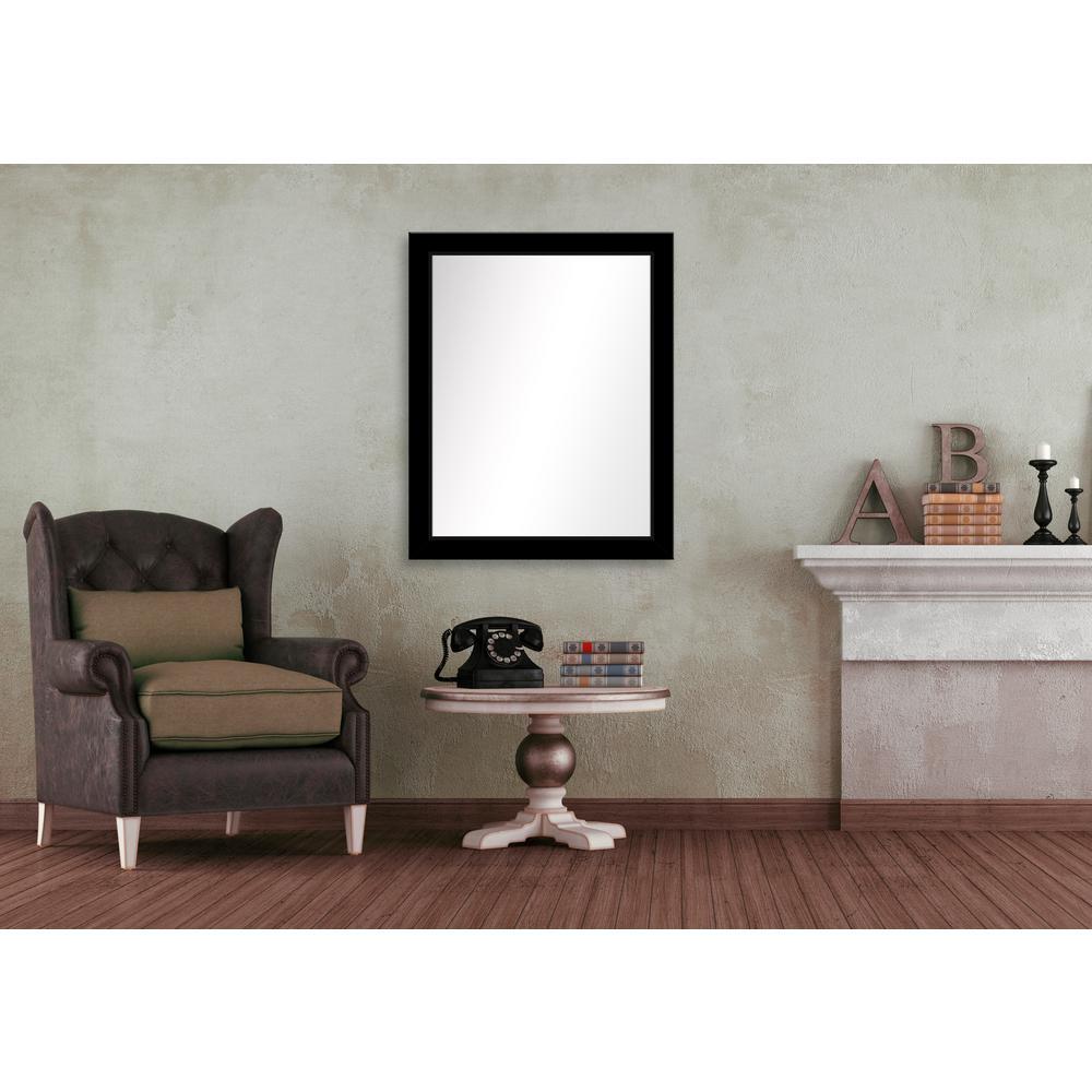 31.5 in. x 25.5 in. Black Framed Mirror