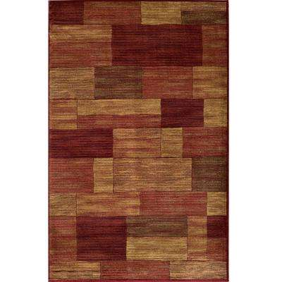 Marvelous Red 4 ft. x 6 ft. Indoor Area Rug