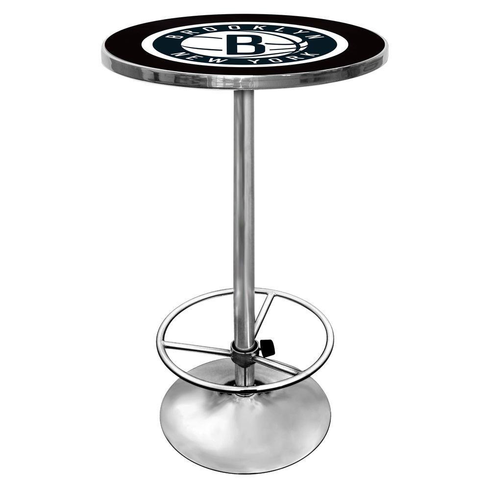 NBA Brooklyn Nets Chrome Pub/Bar Table