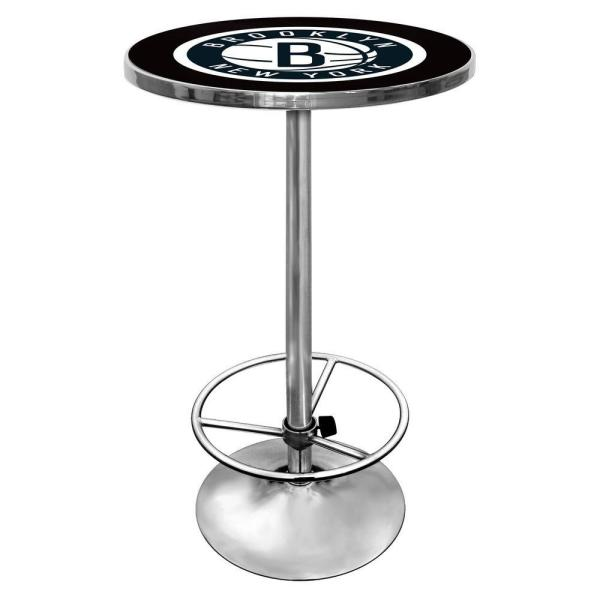Trademark NBA Brooklyn Nets Chrome Pub/Bar Table