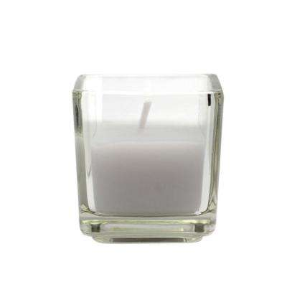 2 in. Lavender Square Glass Votive Candles (12-Box)