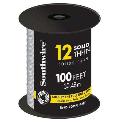 100 ft. 12 White Solid CU THHN Wire