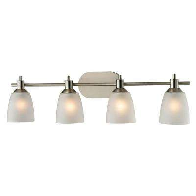 Jackson 4-Light Brushed Nickel Wall Mount Bath Bar Light