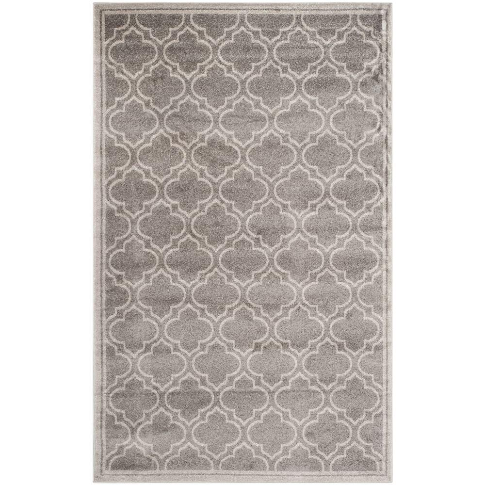Amherst Gray/Light Gray 5 ft. x 8 ft. Indoor/Outdoor Area Rug